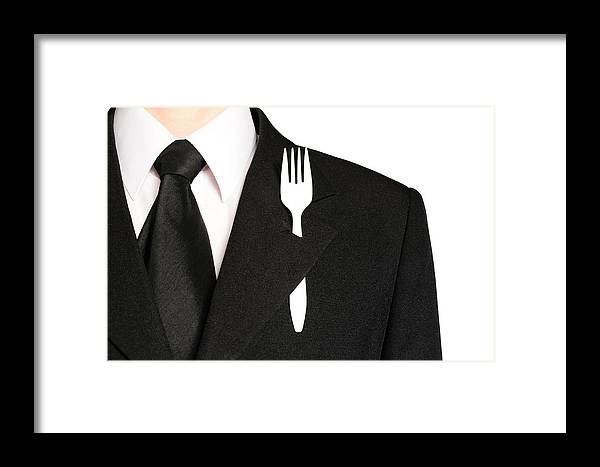 Businessman Framed Print featuring the photograph Funny Businessman by Roman Rodionov