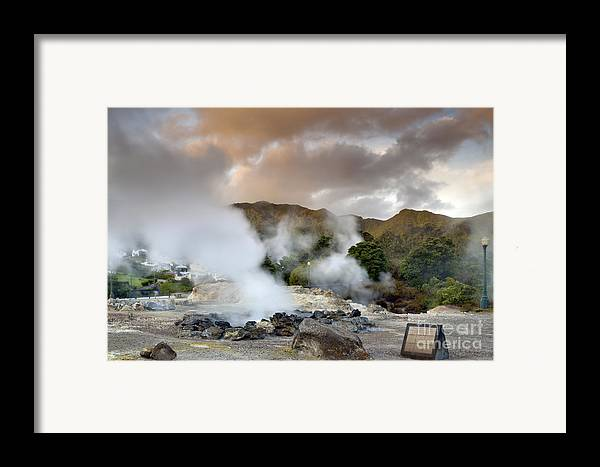 Azores Framed Print featuring the pastel Furnas by Andre Goncalves