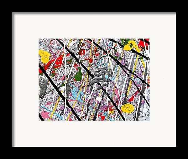 Fyr Fyrcyd.fyr Is Without A Doubt Framed Print featuring the painting Fyr Art Work 7 by Cyryn Fyrcyd