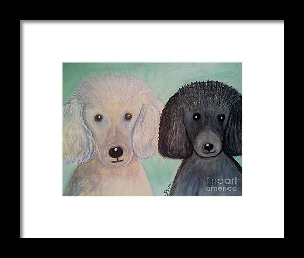 Watercolor Framed Print featuring the painting Gabriel And Belle by Serene Clontz
