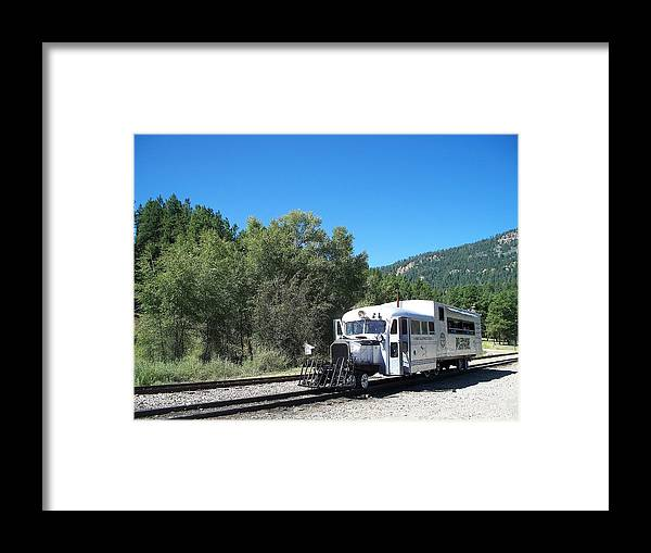 Trains Framed Print featuring the photograph Galloping Goose At Rockwood by FeVa Fotos