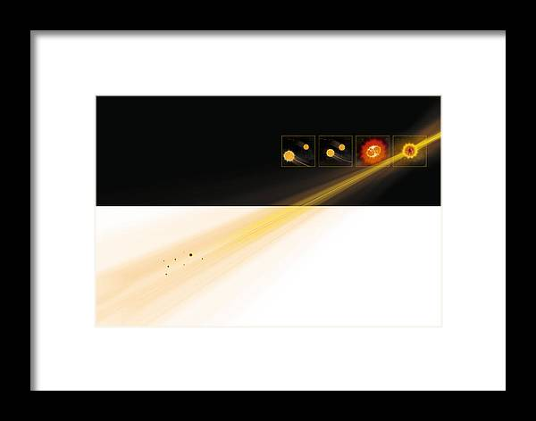 Gamma Ray Burst Framed Print featuring the photograph Gamma Ray Burst Formation by Claus Lunau