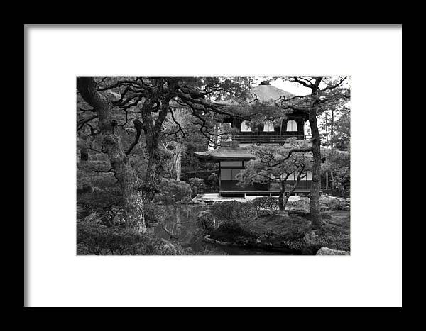 Japan Framed Print featuring the photograph Garden And Temple by Vaidas Bucys