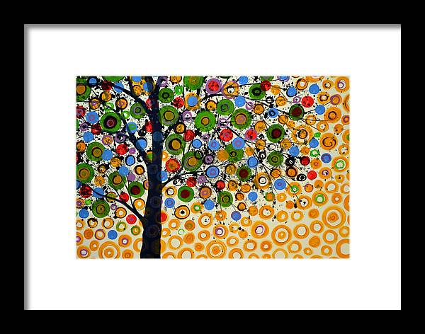 Nature Framed Print featuring the painting Garden Of Moons #2 by Amy Giacomelli