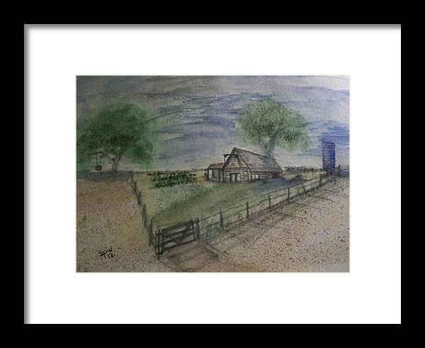Spin Framed Print featuring the painting Garden Spot by Spencer Joyner
