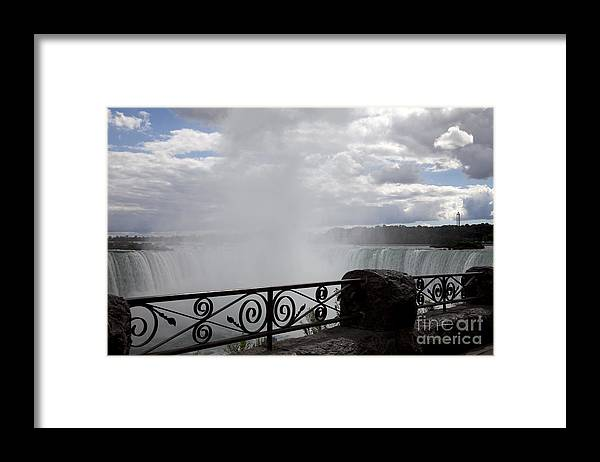 Niagara Framed Print featuring the photograph Gate to Fall by Amanda Barcon