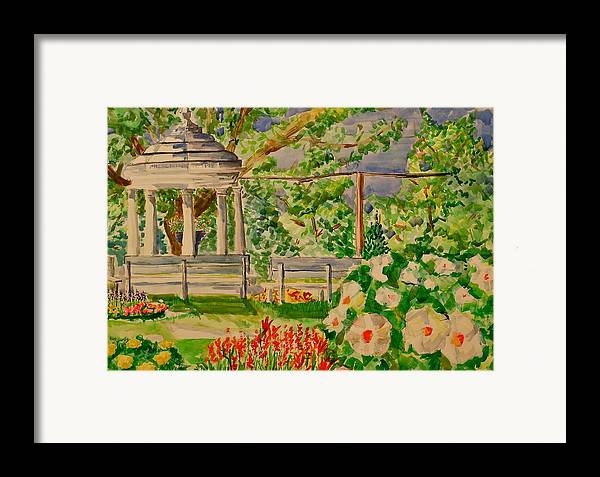 Gazebo Framed Print featuring the painting Gazebo by Jame Hayes