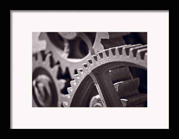 Gear Framed Print featuring the photograph Gears Number 3 by Steve Gadomski