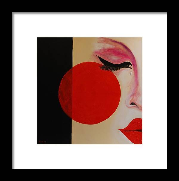 Geisha Framed Print featuring the painting Geisha Tear by Rob Heath