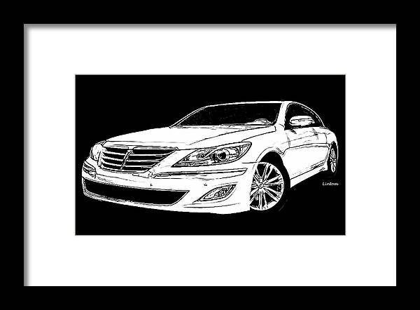 Auto Framed Print featuring the digital art Genesis by Larry Linton