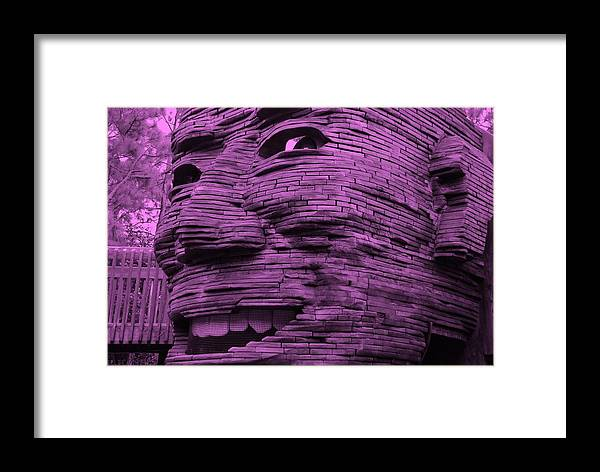 Architecture Framed Print featuring the photograph Gentle Giant In Light Pink by Rob Hans