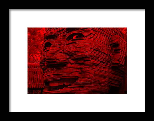 Architecture Framed Print featuring the photograph Gentle Giant In Red by Rob Hans