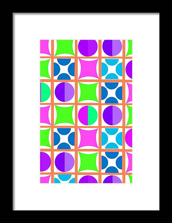 Geo (digital) By Louisa Knight (contemporary Artist) Framed Print featuring the digital art Geo by Louisa Knight
