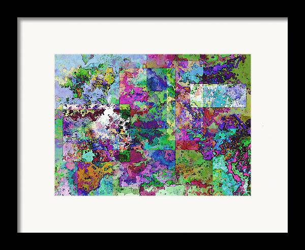 Abstract Framed Print featuring the drawing Geometrix by Debbie Portwood