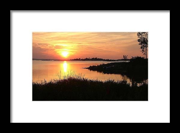 Sunset Framed Print featuring the photograph Georgian Bay Sunset by Don Downer