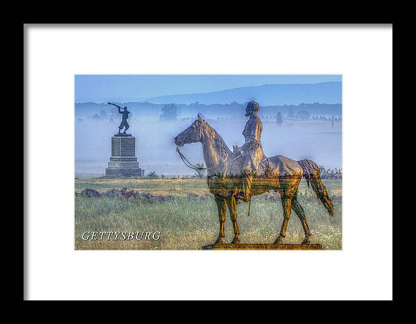 Soldier Framed Print featuring the photograph Gettysburg Battlefield by Randy Steele