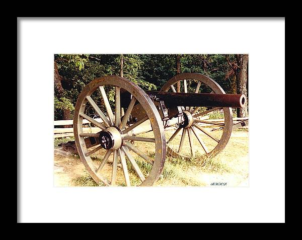 Gettysburg Cannon Framed Print featuring the photograph Gettysburg Cannon by Barbara Plattenburg
