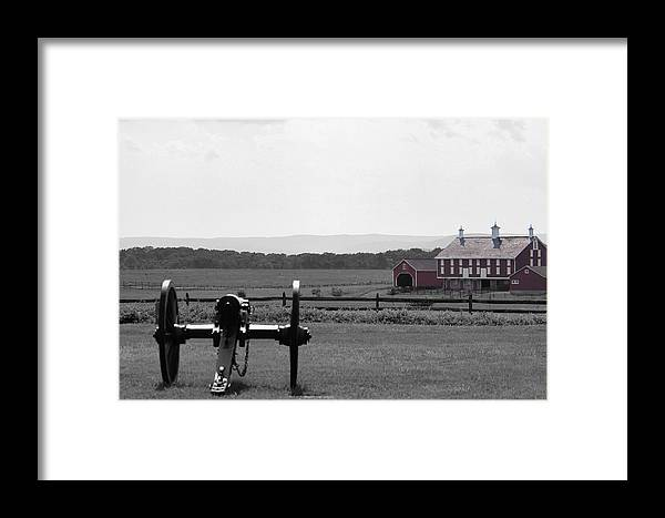 Cannon Framed Print featuring the digital art Gettysburg by Justin Mac Intyre