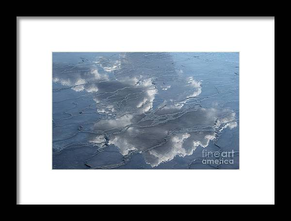 Yellowstone Framed Print featuring the photograph Geyser Basin Cloud Reflection by Sandra Bronstein