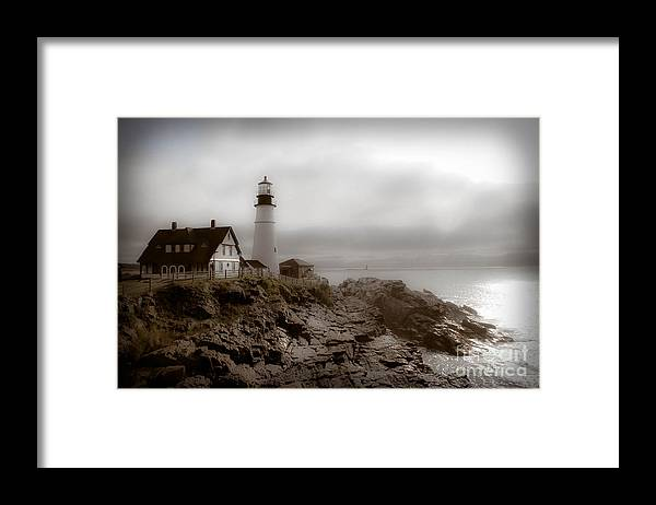 Lighthouse Framed Print featuring the photograph Ghost Light by Brenda Giasson