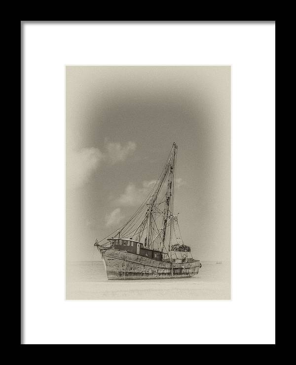 Biloxi ghost Ship Ship biloxi Framed Print featuring the photograph Ghost Ship by James Corley