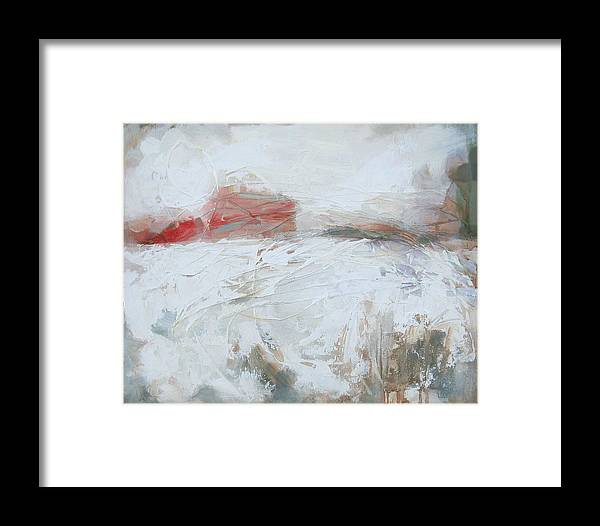 Winter Framed Print featuring the painting Ghost Structure High Street by Mary Brooking