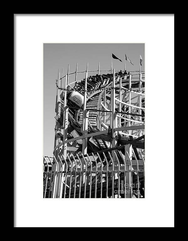 San Diego Framed Print featuring the photograph Giant Dipper-5 by Baywest Imaging