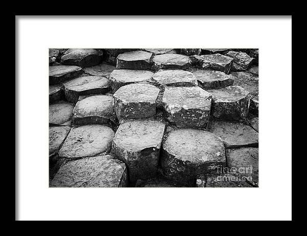 Northern Ireland Framed Print featuring the photograph Giants Causeway Stones Northern Ireland by Joe Fox
