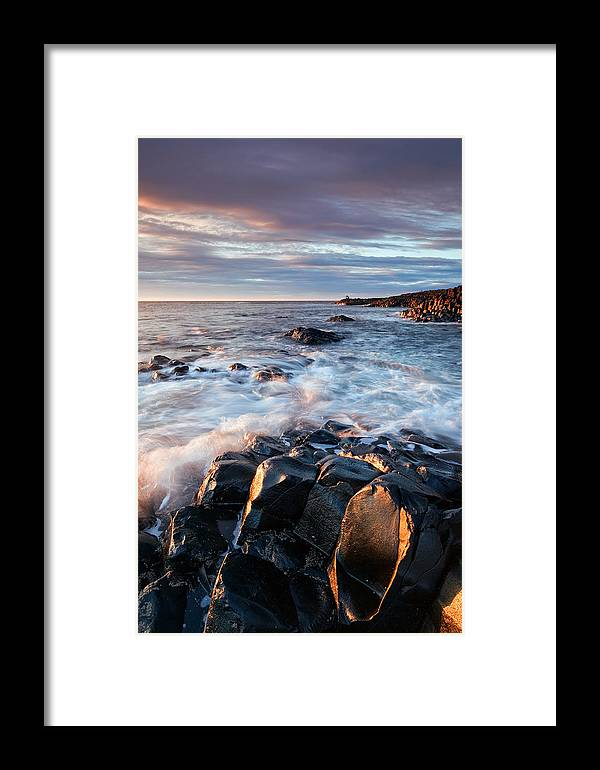 Giants Causeway Framed Print featuring the photograph Giants View by Brendan O Neill