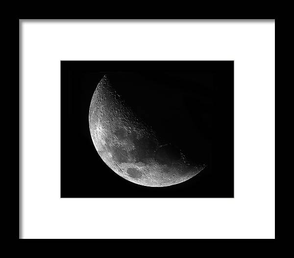 Waxing Gibbeous Moon Framed Print featuring the photograph Gibbeous Moon by Charles Warren