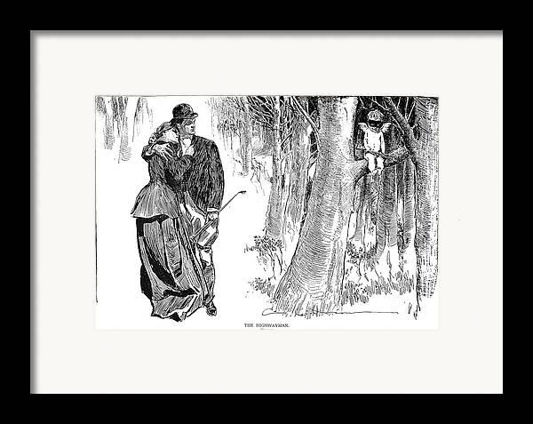 1898 Framed Print featuring the photograph Gibson: Highwayman, 1898 by Granger