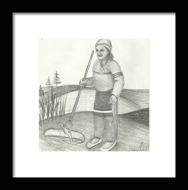 Drawing Framed Print featuring the drawing Gigoke by Candi Wesaw