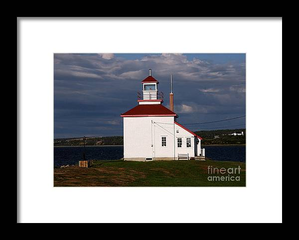 Gilbert Cove Lighthouse Framed Print featuring the photograph Gilbert Cove Lighthouse by Brenda Giasson