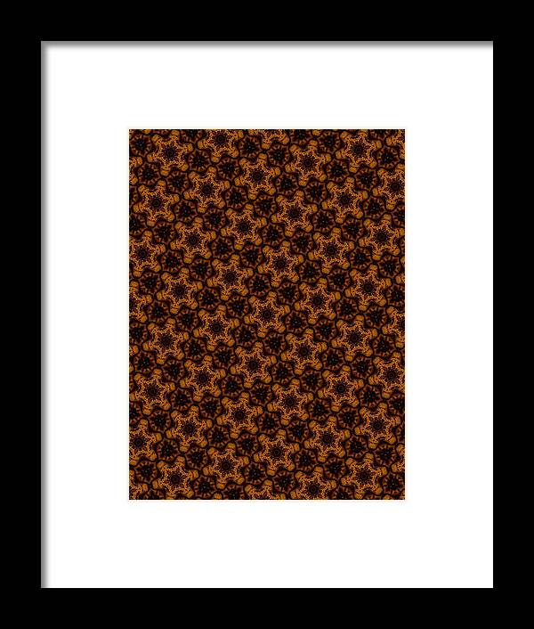 Gingerbread Stars Framed Print featuring the digital art Gingerbread Stars by J Burns