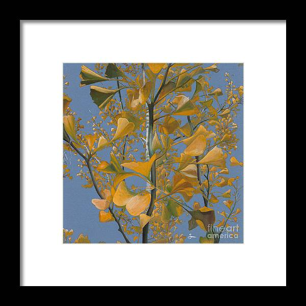 Tree Framed Print featuring the painting Ginkgo Tree by Scott Alberts