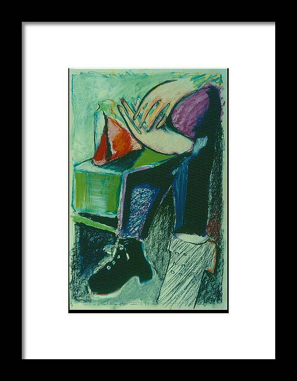 Portrait Framed Print featuring the painting Girl In A Restaurant by David Martin