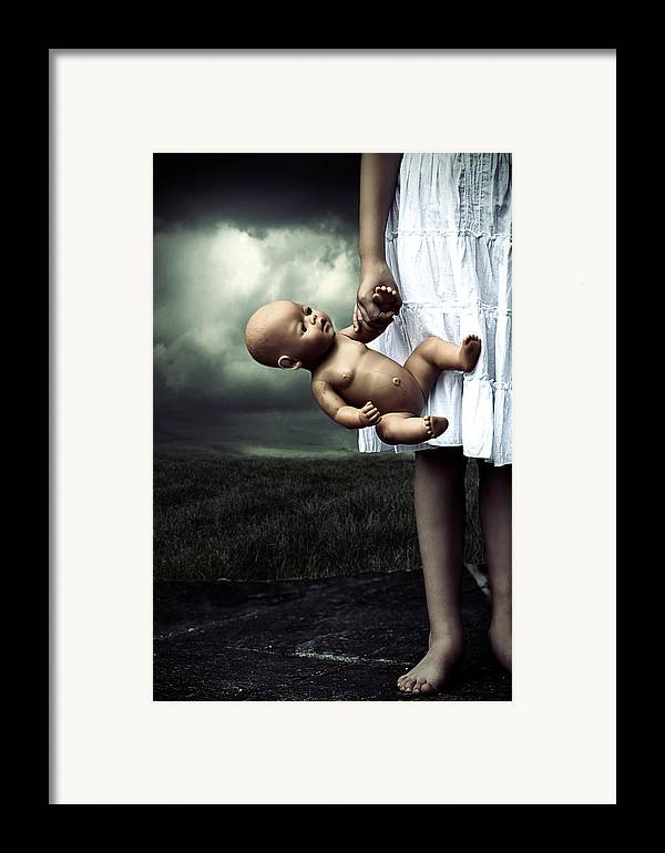 Girl Framed Print featuring the photograph Girl With A Baby Doll by Joana Kruse