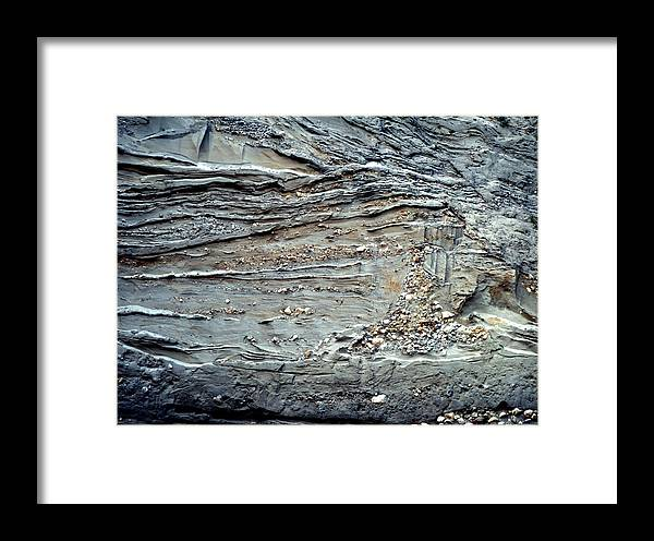 Deposit Framed Print featuring the photograph Glacial Sediments by Dirk Wiersma