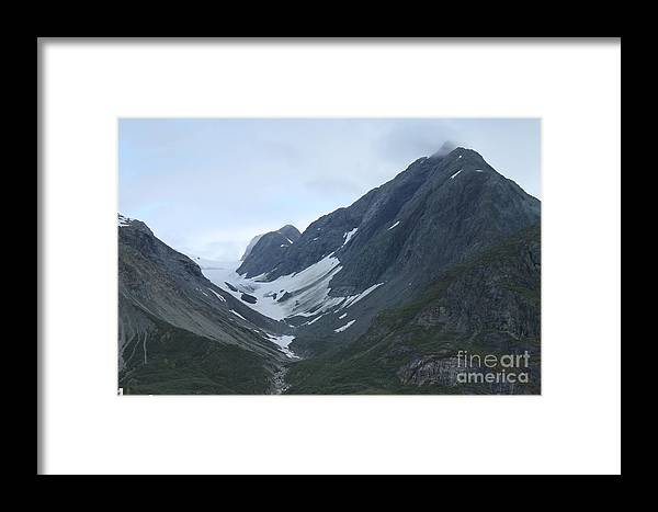 Glacier Bay Framed Print featuring the photograph Glacier Bay Slopes by Pamela Walrath