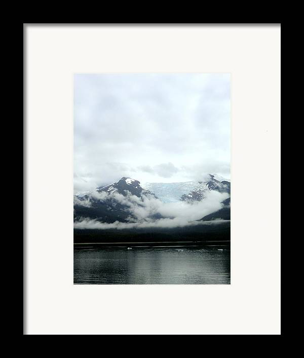 Mountains Framed Print featuring the photograph Glacier Mountain by Mindy Newman