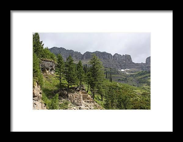 Glacier Nat Park Framed Print featuring the photograph Glacier Nat Park by Amara Roberts