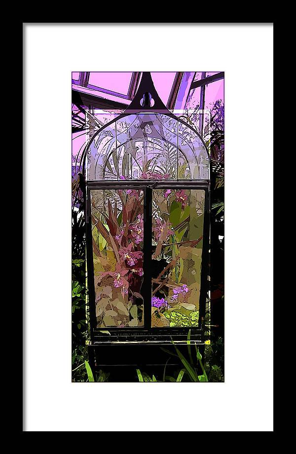 Glass Framed Print featuring the photograph Glass Green House by Mindy Newman