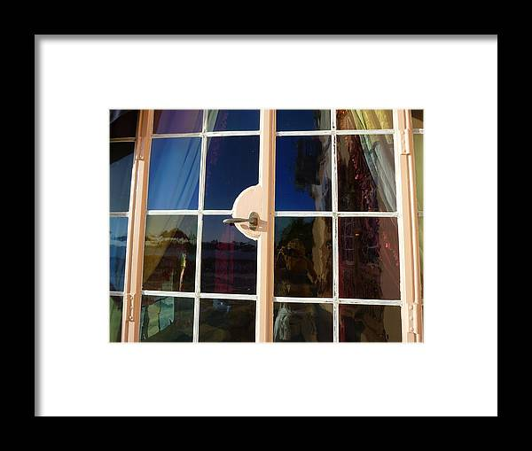 Window Framed Print featuring the photograph Glass Hues by Florene Welebny