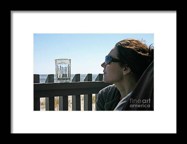 Beach Framed Print featuring the photograph Glass of Water by Beebe Barksdale-Bruner