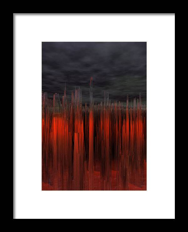Red And Gray Framed Print featuring the digital art Glass Trees by Scott Bishop