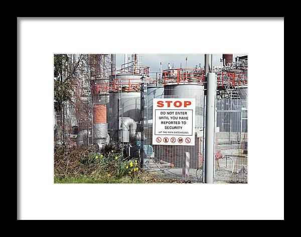 Equipment Framed Print featuring the photograph Glaxosmithkline Factory,uk by Mark Williamson