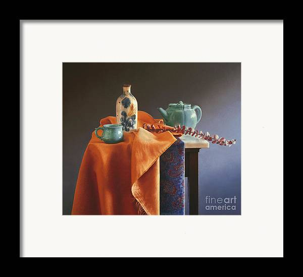 Still Life Framed Print featuring the painting Glazed With Light by Barbara Groff