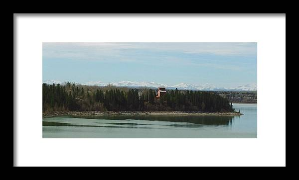 Rocky Mountains Framed Print featuring the photograph Glenmore Reservoir by Rose Szautner