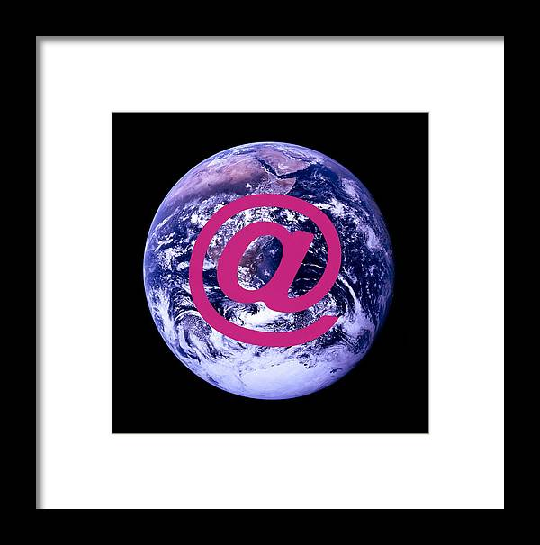 At Symbol Framed Print featuring the photograph Global Communications by Cristina Pedrazzini