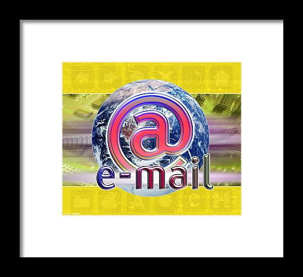 E-mail Framed Print featuring the photograph Global E-mail by Victor Habbick Visions